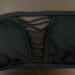 Victoria's Secret Swim - Victoria Secret Black Strappy Swimming Bandeau